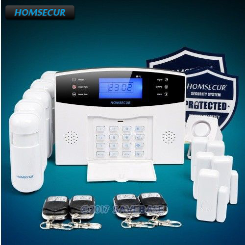 все цены на HOMSECUR Wireless 433Mhz GSM SMS Autodial 850/900/1800/1900 Burglar Alarm System with Russian Voice Prompt онлайн