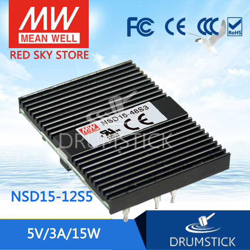 цена на MEAN WELL NSD15-12S5 5V 3A meanwell NSD15 5V 15W DC-DC Regulated Single Output Converter [Hot6]