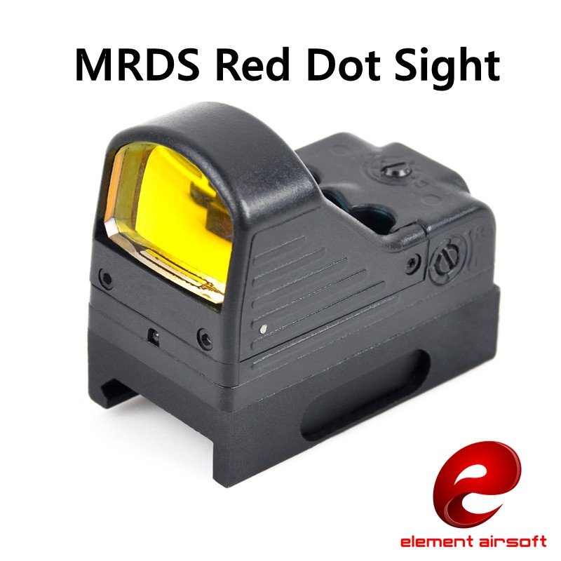 Element Airsoft Red Dot Sight Spotting Scope For Gun Aiming Device MRDS Picatinny Rail Mount EX 201