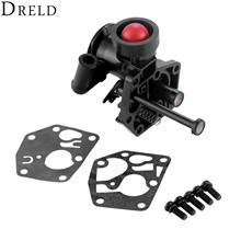 DRELD Fuel Gas Tank Carburetor Gasket Repair Rebuild Kit for Briggs & Stratton 499809 498809A 494406 Carb Garden Power Tools