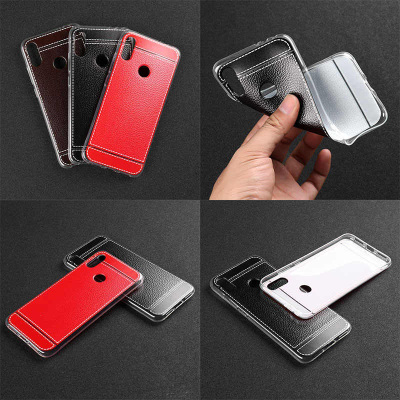 De cuero suave de cuero caso para Xiaomi Redmi Nota 7 6 5 3 Pro caso Mi A2 Lite Coque Xiaomi Redmi Note 5 6 Plus 6A 4 4X 4A 3S 3X 2 S2 Y2 cubierta