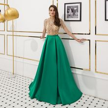 High quality Formal Evening dress large skirt Prom Gown manual beaded Robe De Soiree  formal party vestido de noiva