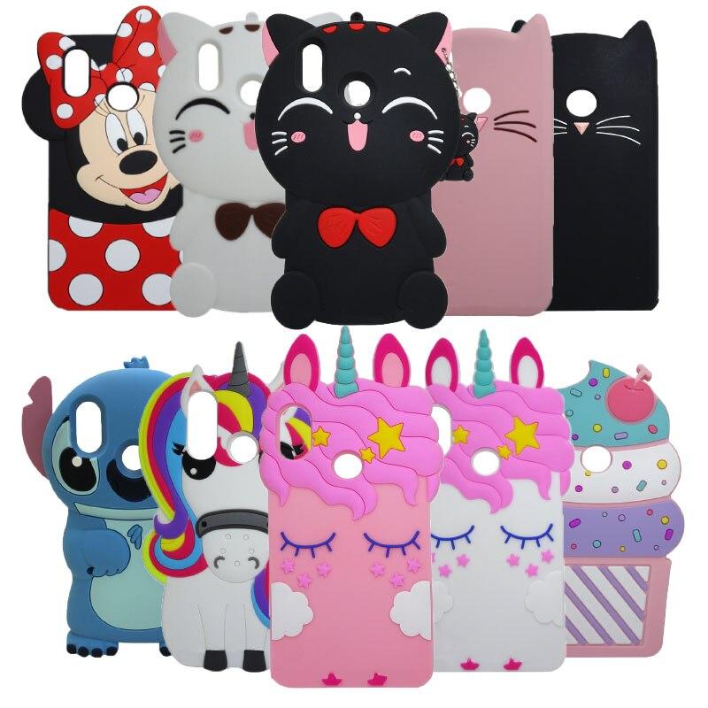 """Phone Case For Xiaomi Redmi Note 5 5.99"""" Cute 3D Cartoon Stitch unicorn cupcake Soft Silicone For Xiaomi Redmi Note 5 Pro Cover"""