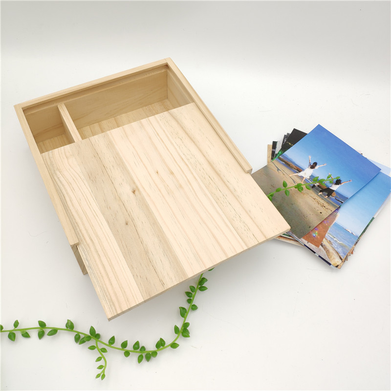 Big Wooden Box With  Sliding Lid  Packing Box For Clothing Organizer Wood Holder For Special Gift Inside Dimension 26*14.5*4cm