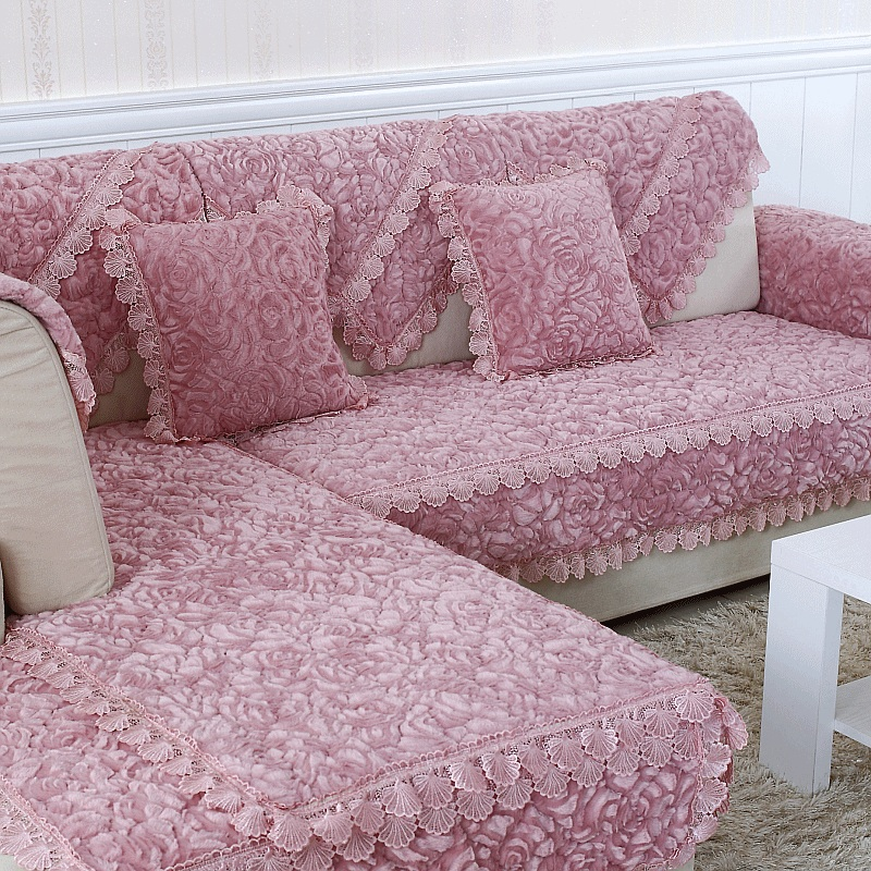 Amazing Us 12 65 50 Off Rose Plush Sofa Cover Solid Sofa Towel Slipcover Couch Covers Comfortable Home Non Slip Europe Style Sofa Towel In Sofa Cover From Caraccident5 Cool Chair Designs And Ideas Caraccident5Info