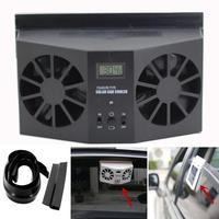 AUTO Car Styling Solar Powered Car Window Air Vent Ventilator Mini Air Conditioner Cool Fan NEW