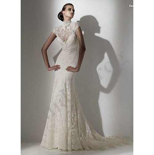 Images Wedding Gowns: Real Images! Freeshipping Custom Made Short Sleeve Beaded