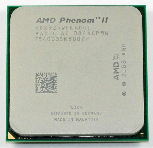AMD Phenom II X4 925 процессор 2.8 ГГц 6 МБ L3 Кэш Socket AM3 quad-core разрозненные части процессора