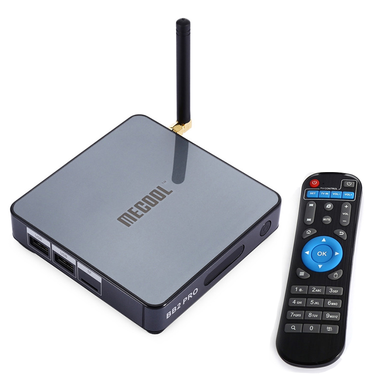MECOOL BB2 Pro TV Box With Android 6.0 TV 3GB DDR4 RAM 16GB ROM + Amlogic S912 Octa Core CPU Smart TV Set-top Boxes