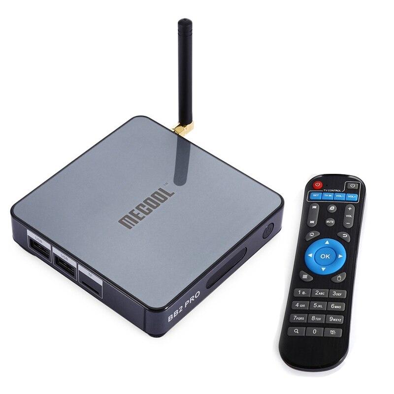 MECOOL BB2 Pro TV Box Con Android 6.0 TV 3 GB DDR4 RAM 16 GB ROM + Amlogic S912 Octa Core CPU Smart TV Set-top Box