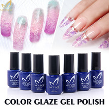 MONASI 2016 New Arrivals Glaze UV Gel Polish Nail Art Varnishes Fashion Design Clear Color unhas Manicure Kit