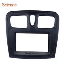 Seicane 2 дин Радио панель для 2015-2018 Renault Sandero Logan установить Рамки тире ободок отделкой комплект крышка отделка
