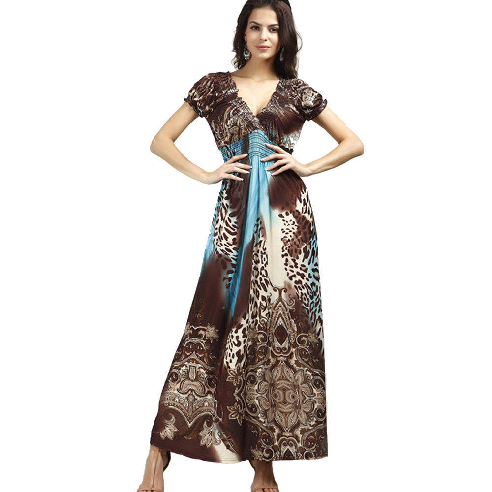 Leopard Print Long Women Maxi Dress Vestidos 2016 Fashion Casual