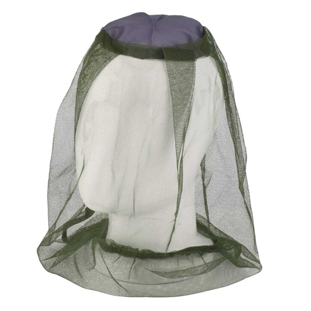 Sombrero de red para pesca al aire libre contra insectos, insectos, abejas, máscara de malla, gorra con cabeza, red de malla, sombreros de apicultura, protección facial