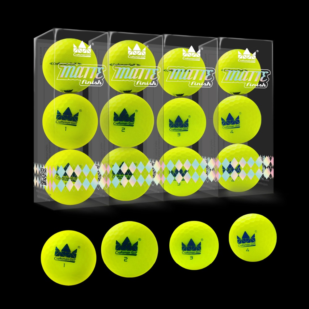 Image 4 - Craftsman 12pcs Golf Balls Matte Finish Long Distance 2 Piece Matte Golf Balls 12 pack Colored Matte Balls NEW!-in Golf Balls from Sports & Entertainment