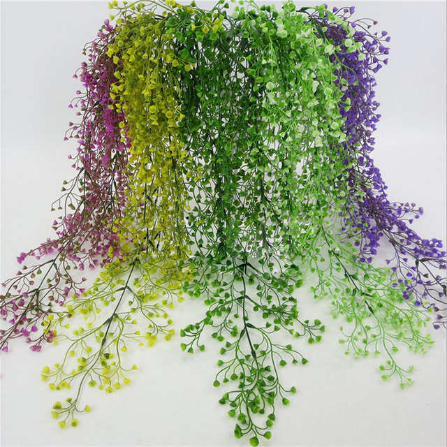 placeholder Bunga buatan String untuk Pesta Pernikahan Hari valentine Buatan  Menggantung Tanaman Pot Basket Indoor Outdoor Garden 3dc9d72ccd