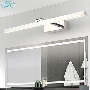 Image 5 - L40cm L60cm L70cm L90cm L110cm وحدة إضاءة LED جداريّة مصباح مرآة حمام ضوء للماء أكريليك حديث جدار مصباح أضواء الحمام AC85 265V