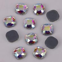 Hotfix Rhinestones Square Crystal Iron On Classical Stones/flat-Back 8mm 6mm Lead-Free