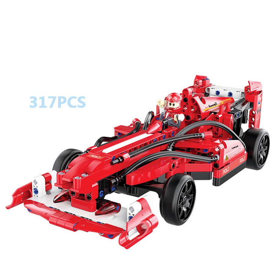 World speed Champion F1 racing rc car building block racer driver figures assemblage diy brick remote radio control toy for gift gti champion racer