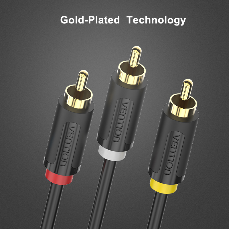 Vention 3RCA to 3 RCA Male to Male Audio Cable Gold Plated AV Cable 3X RCA Plug Video Cable 2M 3M 5M for DVD VCD TV Blueplayer