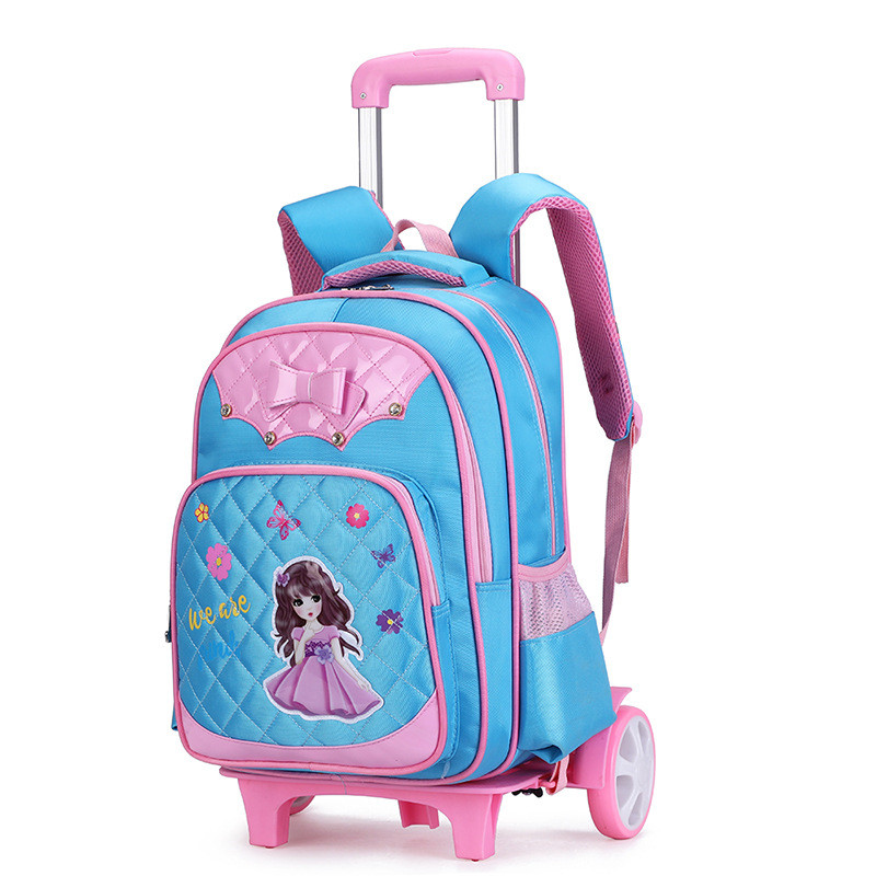 Us 42 0 50 Off Children Wheeled School Bag For Boys S Kids Trolley Backpack Waterproof Book Bags With 2 Wheels Rolling Rucksack Mochilas In