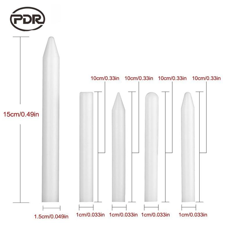 PDR Dent Removal Auto Repair Tool Car Dent Repair Kit White Nylon Pen Tap Down Pen Knock Down Tools 5 Pcs/set