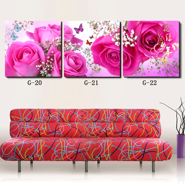 3 panel wall art CANVAS PICTURES FOR LIVING ROOM SYMBOL OF LOVE ...