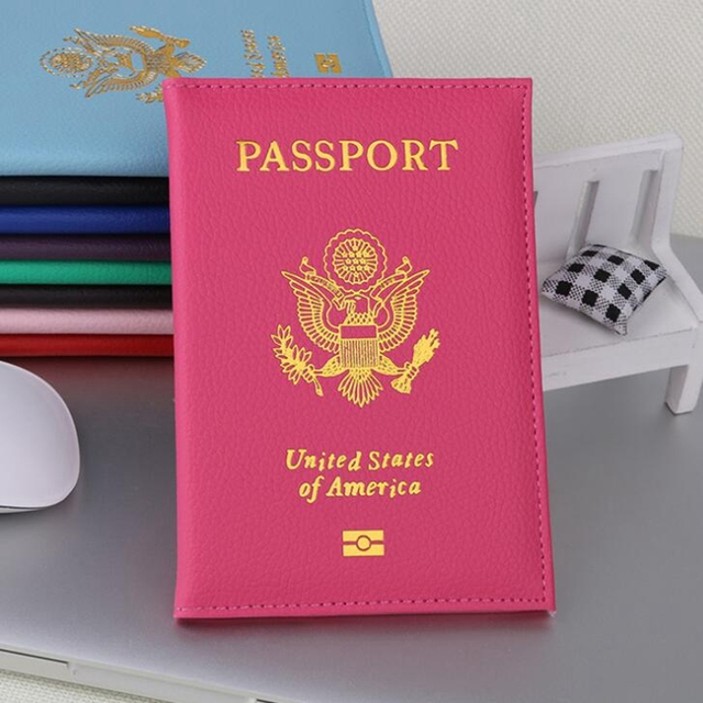 Casual travel usa passport cover women men passport credit card casual travel usa passport cover women men passport credit card holder case pu leather business card colourmoves