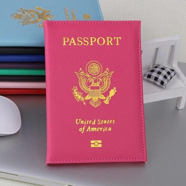 Casual Voyage USA Couverture Du Passeport Femmes Hommes Carte De Crdit Titulaire Cas PU En