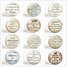Believe In Youself...Inspirational Letter Fridge Magnet Set 12pcs 25MM Glass Dome Quotes Refrigerator Magnetic Holder Home Decor
