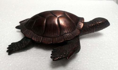 Lucky Old Chinese Fengshui bronze longevity Wealth turtle tortoise Animal statue 20cmLucky Old Chinese Fengshui bronze longevity Wealth turtle tortoise Animal statue 20cm