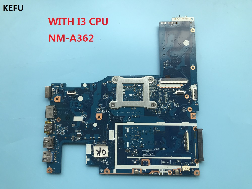 KEFU High quality For Lenovo G50 80 Laptop Motherboard With i3 CPU ACLU3 ACLU4 UMA NM