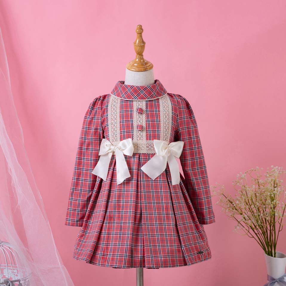 Pettigirl Vintage Plaid Baby Girl Party Dresses Red