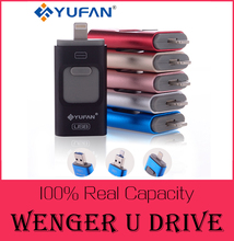 Специальное предложение Телефон OTG USB Flash Drive для iphone 6/5 ipad молния флэш-накопитель 8 г 16 ГБ 32 ГБ 64 ГБ iFlash Водитель + Micro usb