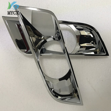 Car Accessories ABS Chrome Fog Lights Covers For FORD RANGER T7 Wildtrak 2016-2018 2pcs