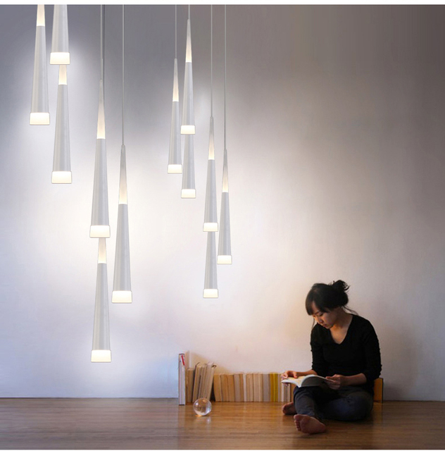 art decor 1538m long led cone pendant lights for extra height stairwell library