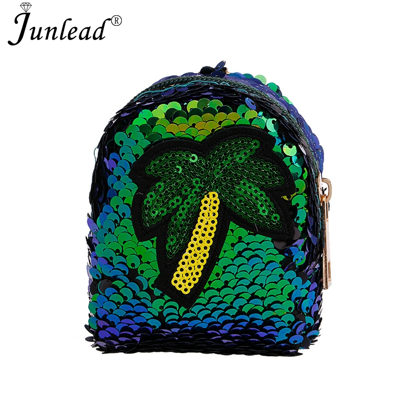 Detail Feedback Questions about Junlead New Sparkly Sequins Coconut Tree Coin  Purse Blue Fashion Custom Key Chains Cute Card Coin Purse For Women Teacher  ... f73a08508f12