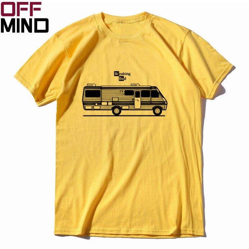 OFF MIND Pure Cotton Breaking Bad Print Men T Shirt Casual Loose Men Tshirt Summer Loose Heisenberg T-shirt Mens Tee Shirt R0130