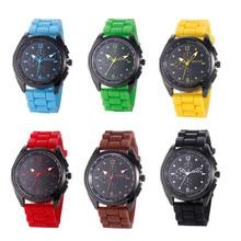 1pc Women Watch clock Silicone Jelly Sports Men Watch Quartz Analog Clock Wristwatch  Montre Homme Relogio round Casual X3