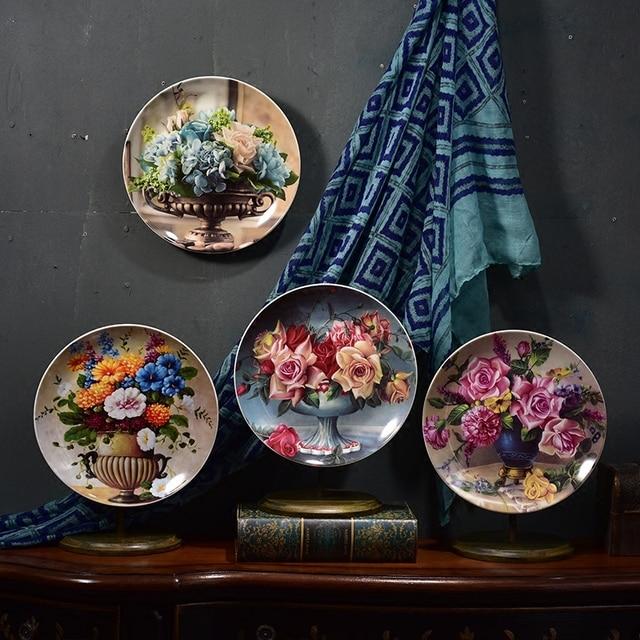 لوحات سيراميك الزهور الاوروبية الفاخرة ديكور و اكسسوارات