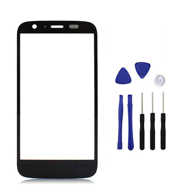 Black For Motorola Moto G XT1032 XT1033 Front Panel Screen Outer Glass Lens Cover Replacement With Free Tools + Tracking Number