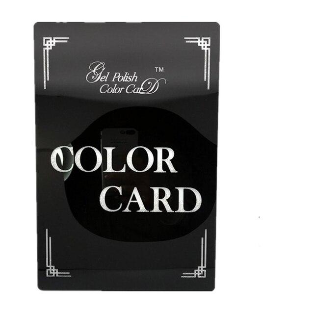 Black/White Acrylic Nail Display Book Nail Gel Polish Art Showing Boxes 72Colors Nail Display Book Manicure Tools