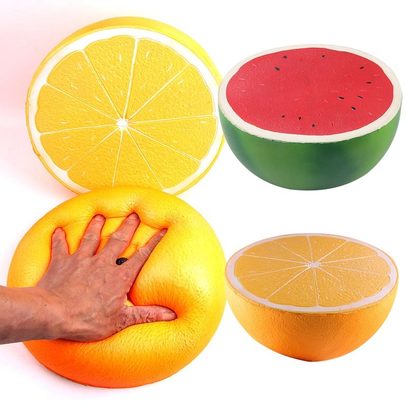 Super Jumbo Squishy Half Lemon Watermelon Fruit Scented Slow Rising Kids Toy