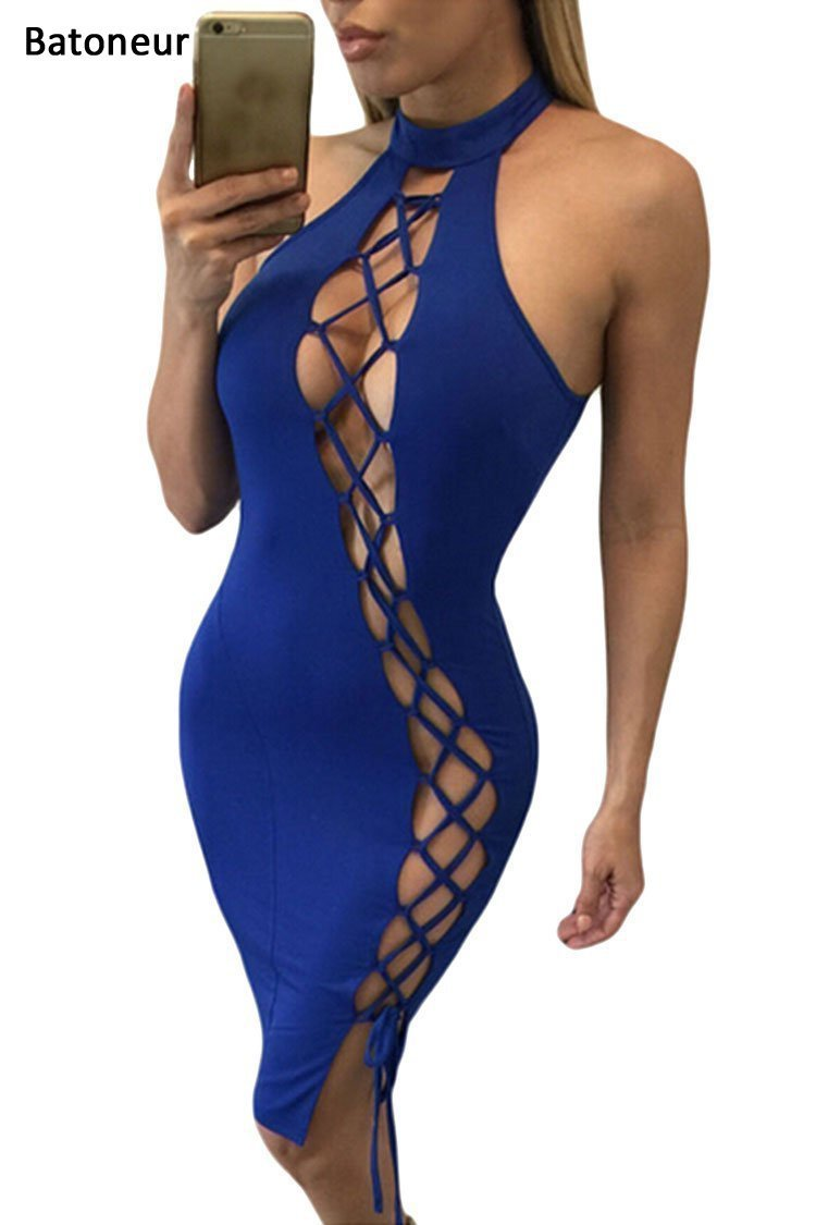 Batoneur Sexy Dresses Party Night Club Dress 2017 New Fashion Hollow Out Off the Shoulder Bodycon Women Bandage Dresses
