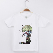 New Arrival Funny Zombies T Shirt For Boys Children Clothes 100% Cotton Casual Kids Girls Tops Short Sleeve T-shirts Tee Shirts цена
