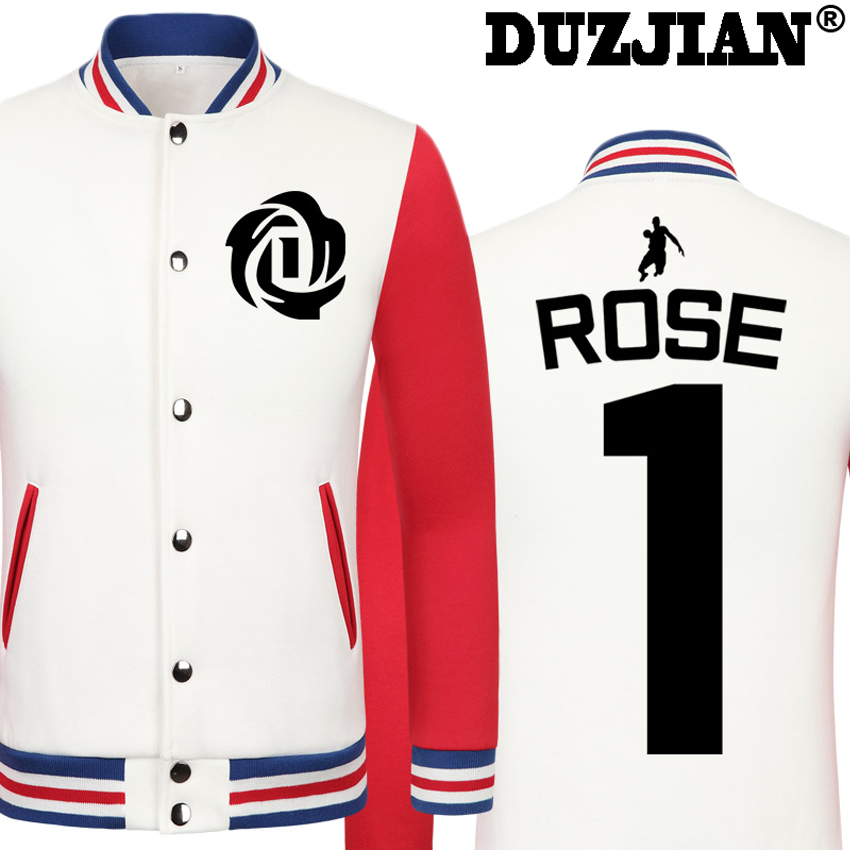DUZJIAN Spring new Knicks Derrick Rose casual jacket Big Fundamental cheap men winter jackets male coat boys jacket hip hop