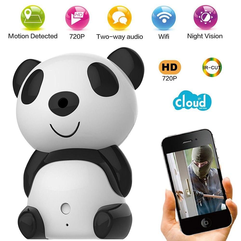 ФОТО Cute Panda 720p HD Wireless Remote Surveillance IP Camera Wifi P2P Home security Cam with 2-way Audio IR Day Night Vision