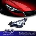 One-Stop Shopping Styling para 2014-2015 Mazda 3 Faróis de LED Novo Mazda3 LEVOU DRL Lens Duplo Feixe H7 HID Xenon Carro acessórios