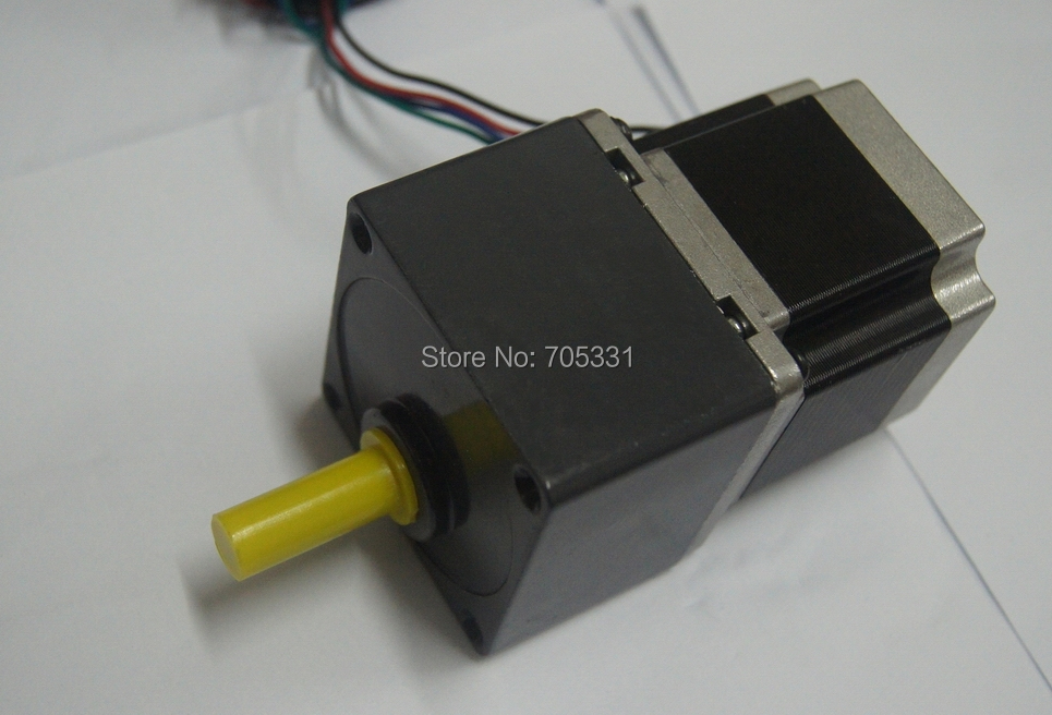 цена на Nema23 4 lead Jingbo Stepper Geared Motor with 1:5 Gear Ratio J57HB56-03-G5 motor length 56mm