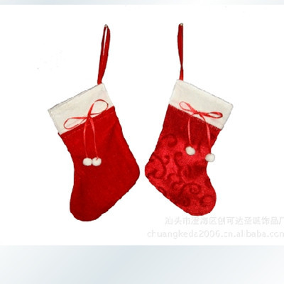 Christmas Gifts Cloth Handicrafts Of Small Red Sox Christmas Stockings With Candy Socks